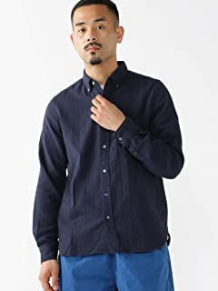 Gauze Buttondown Shirt 11-11-6303-139: Navy