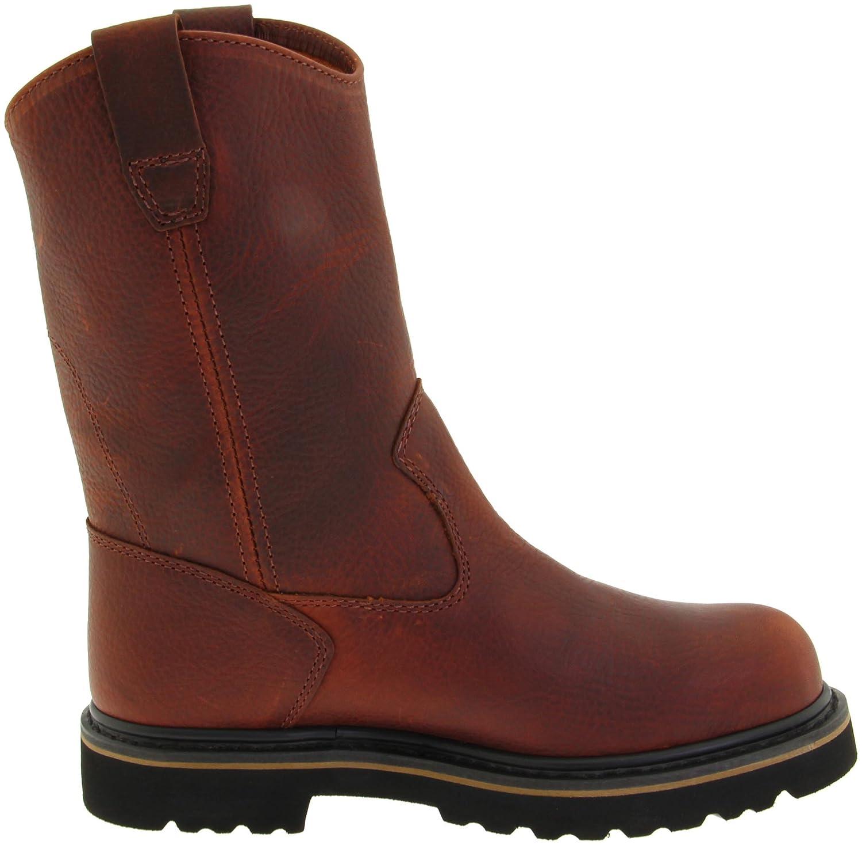 "Amazon.com: Wolverine Wellington 10"", Steel Toe, Pull-On Men's Boots: Shoes"