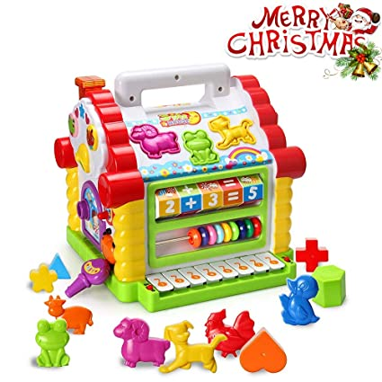 amazon com homofy baby toys colorful musical baby little fun house
