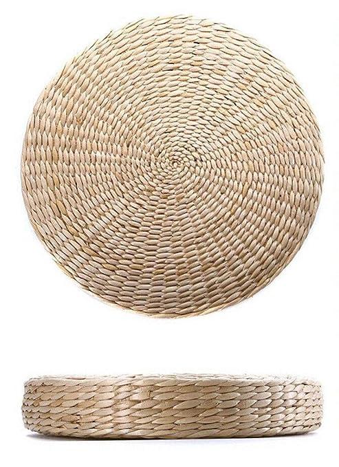 Amazon.com: vivaBKK Natural Straw Round Pouf Tatami Floor ...