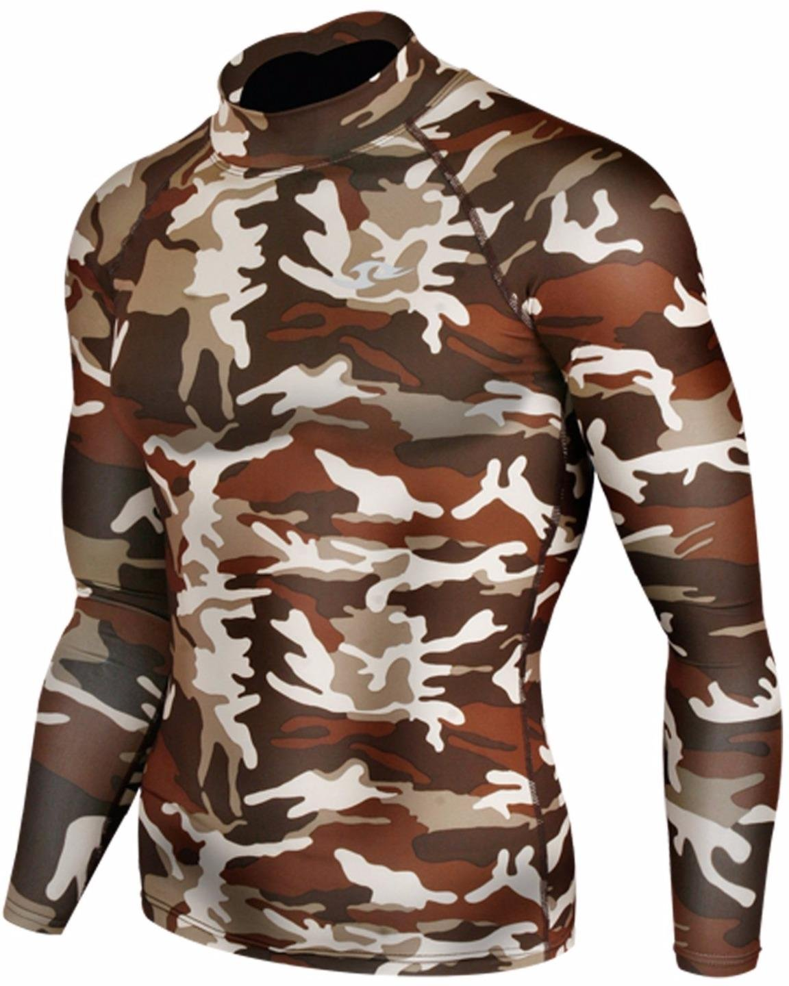 New 062 Skin Tight Compression Base Layer Camo Running Shirt Mens S - 2xl