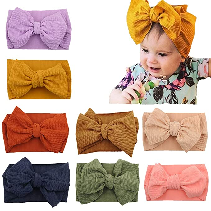 New Baby Girl Kids Toddler Bow Head Wrap Hair Band Turban Headband Accessories