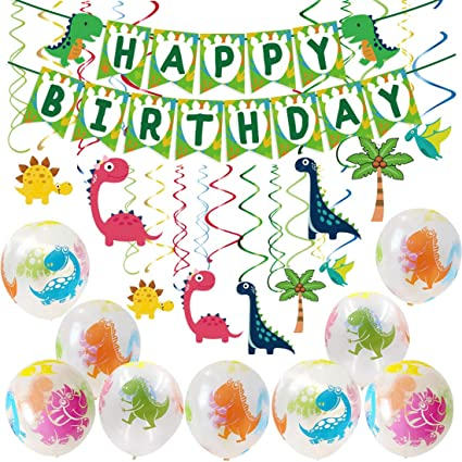 Amazon.com: Dinosaur cumpleaños fiesta suministros ...