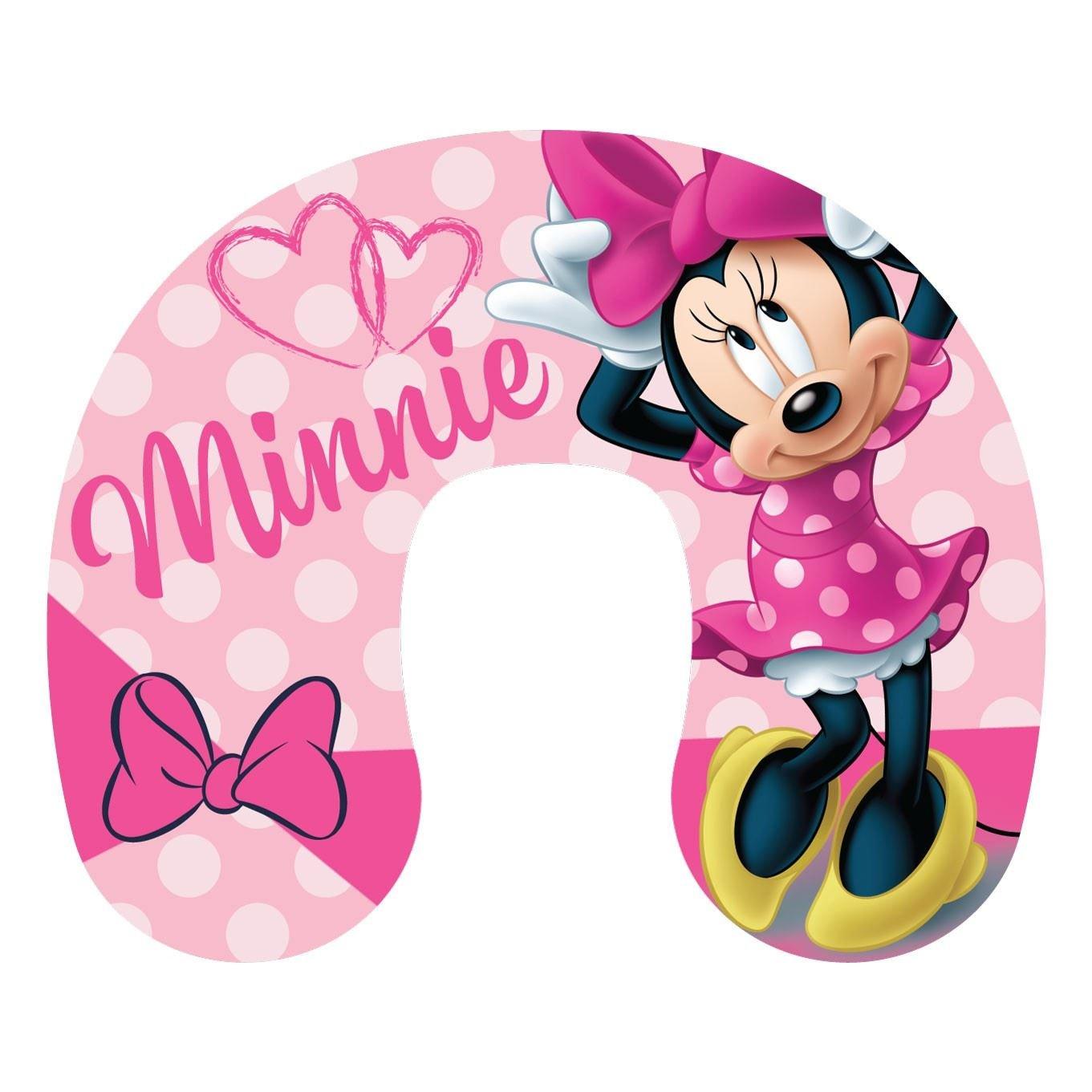Disney Minnie Mouse pour Enfants Coussin de Cou Oreiller de Voyage