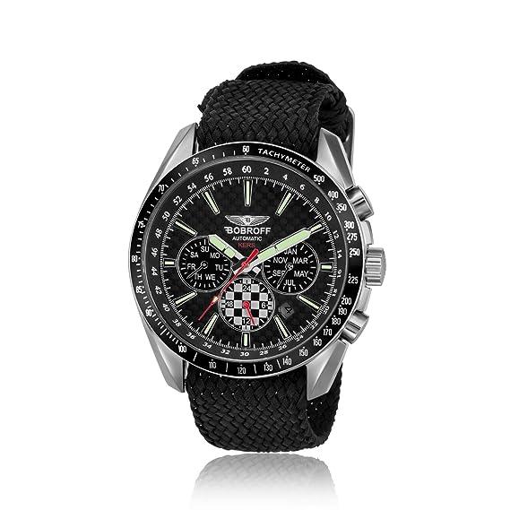 Bobroff Reloj Analógico para Hombre de Automático con Correa en Nailon BF0012PN: Amazon.es: Relojes