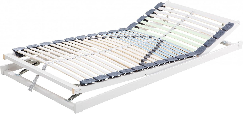 Hukla Dura V-Zon de 5Zonas Sistema Marco con Cabeza y Base Regulable para Personas de hasta 200kg, 100 x 220 cm