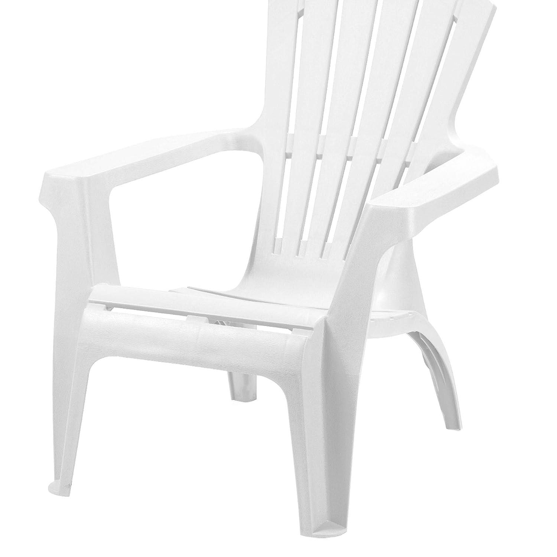 PROGARDEN 86799/Dolomiti Deck Chair plastico impilabile Bianco