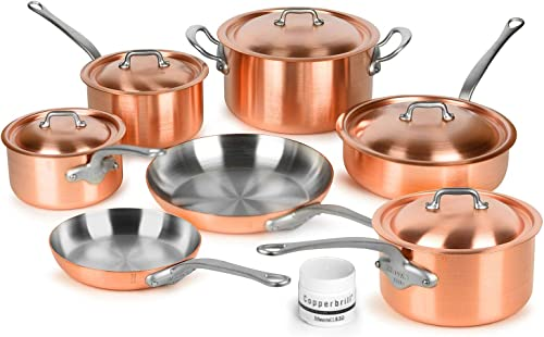 Mauviel 2.5mm Brushed Copper Cookware Set
