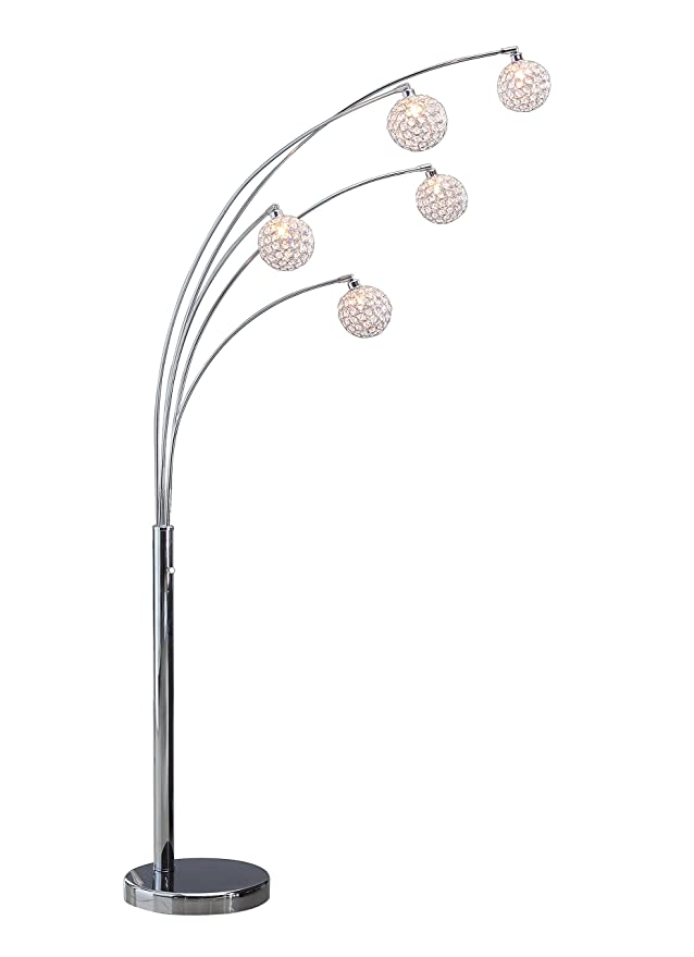 Artiva USA A511118FSN Manhattan Modern Crystal Floor Lamp, 84