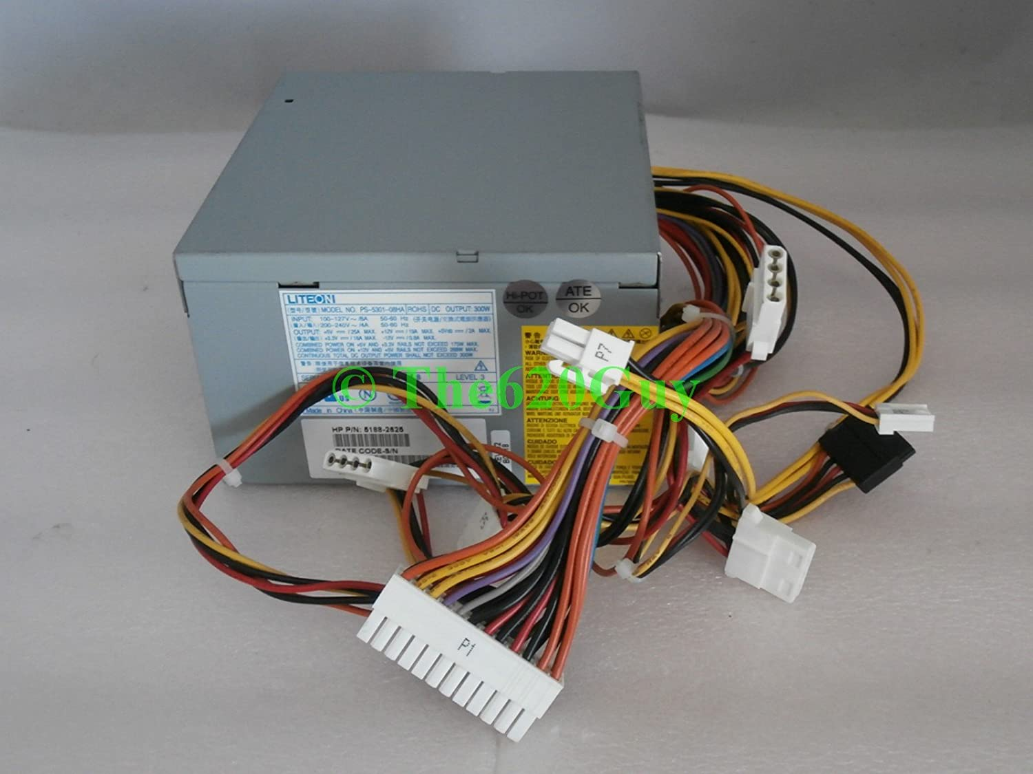 HP Genuine Compaq 300W ATX Power Supply 5188-2625 Lite-On PS-5301-08HA 5187-6114