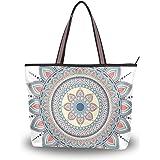 395f48714fc1 Women's Handbags Art Flower Mandala Floral Pattern Tote Canvas ...