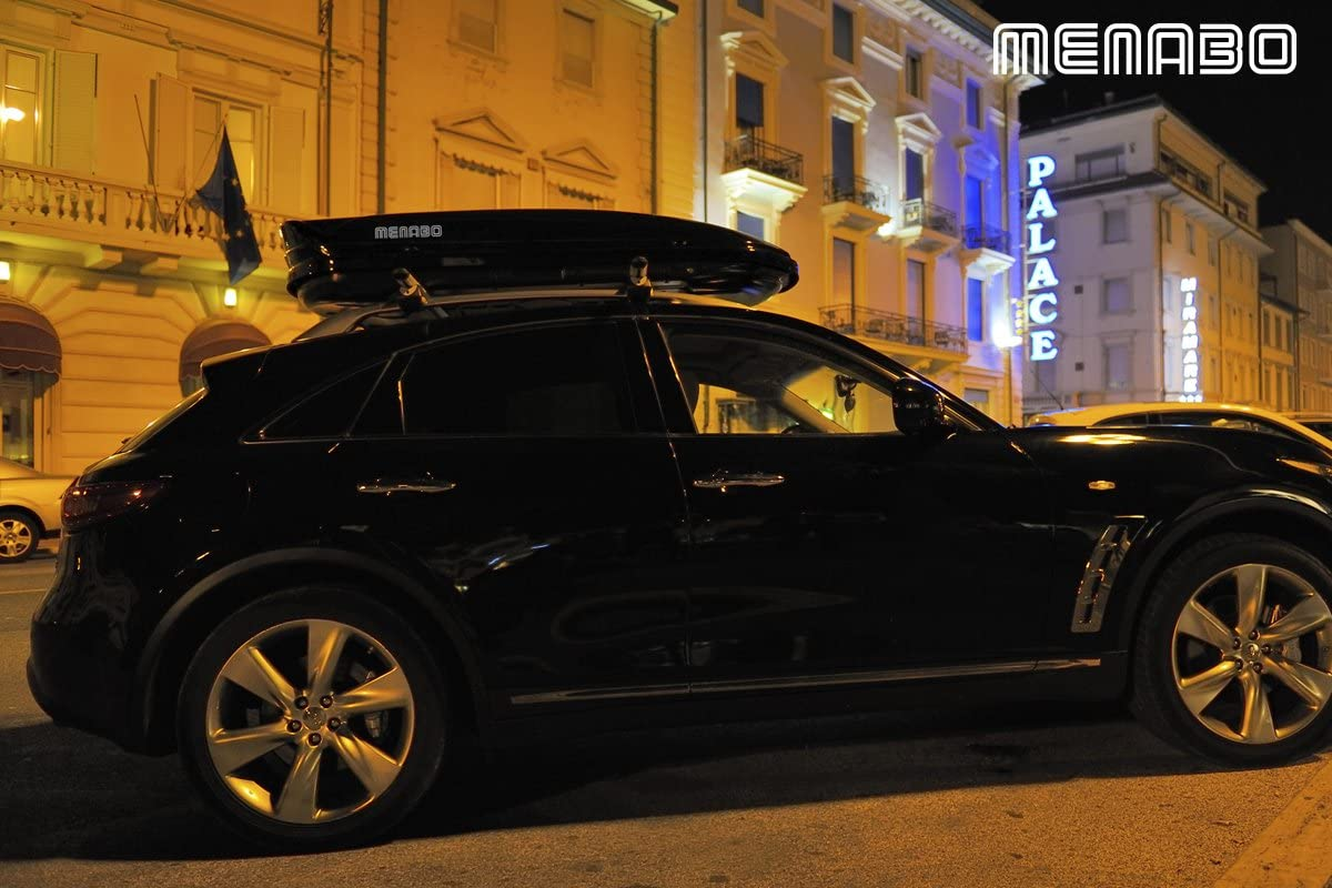 Menabo Dachbox Autobox Mania Black 400 Schwarz Glänzend Auto