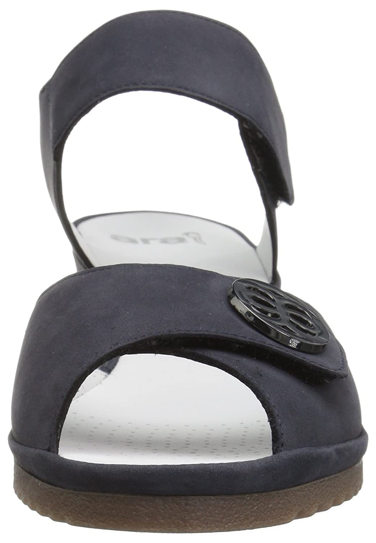 ara Women's Clara Wedge Sandal B01N1N3F8U 6.5 B(M) US|Ocean Nubuck