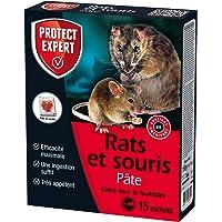 Protect Expert RASOU150 RASOU150 voor ratten en muizen, 150 g, droog en vochtig, maximale efficiëntie, voorgedoseerde…
