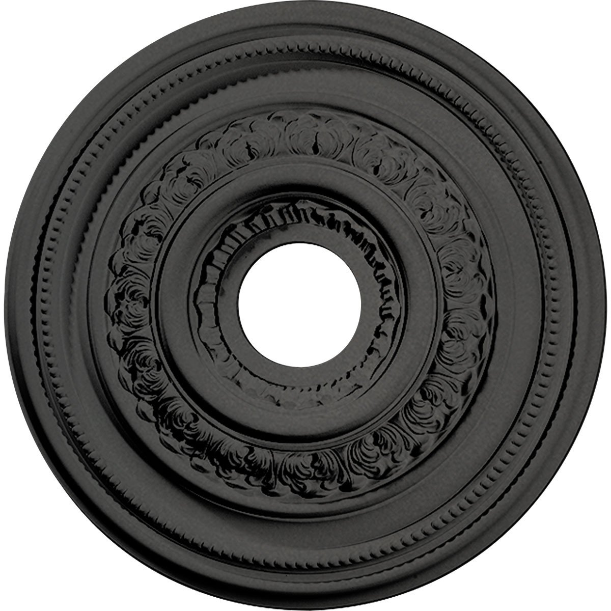 Ekena Millwork CM17OLSGS Orleans Ceiling Medallion fits Canopies up to 4 5/8'', Steel Gray