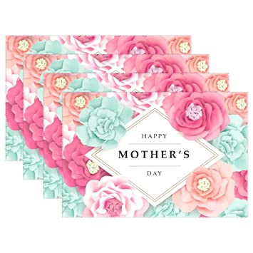 Amazoncom U Life Happy Mothers Day Floral Flowers May Plate Place