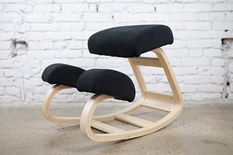 TMSL Ergonomic Kneeling Chair Natural Wood Frame Office Chair for Better Posture