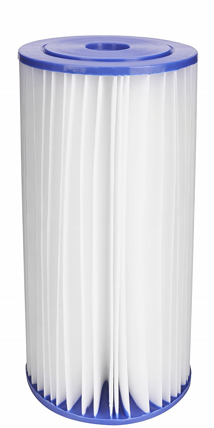 EcoPure EPW4P Pleated Whole Home Replacement Water Filter-Universal Fits Most Major Brand Systems, White