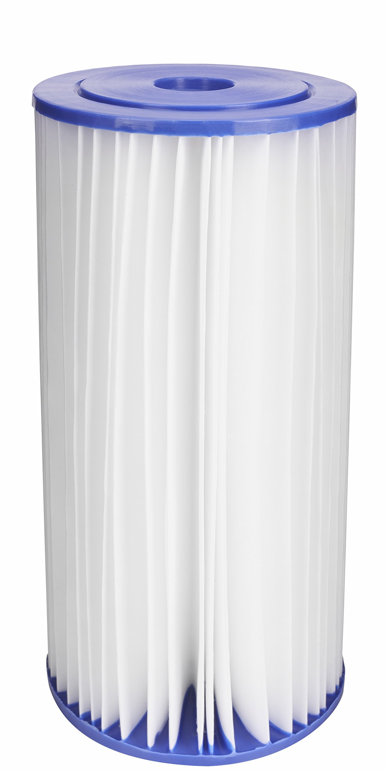 EcoPure EPW4P Pleated Whole Home Replacement Water Filter - Universal Fit - Fits Most Major Brand Systems
