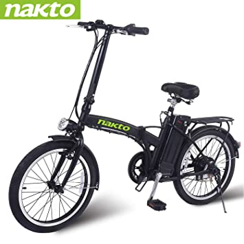 Amazon.com: Nakto - Bicicleta eléctrica plegable para ...