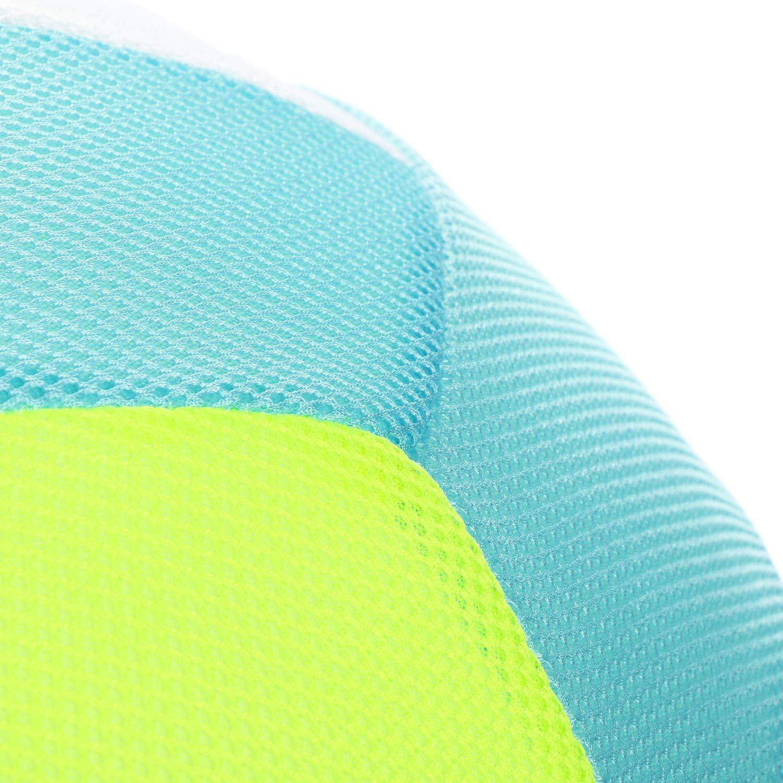 Beach Soccer per LEstate Netball con Pompa per Il Giardino Bianco//Nero la Spiaggia e Il Divertimento in Acqua com-four/® Pallone da Calcio Gonfiabile in Tessuto 50 cm