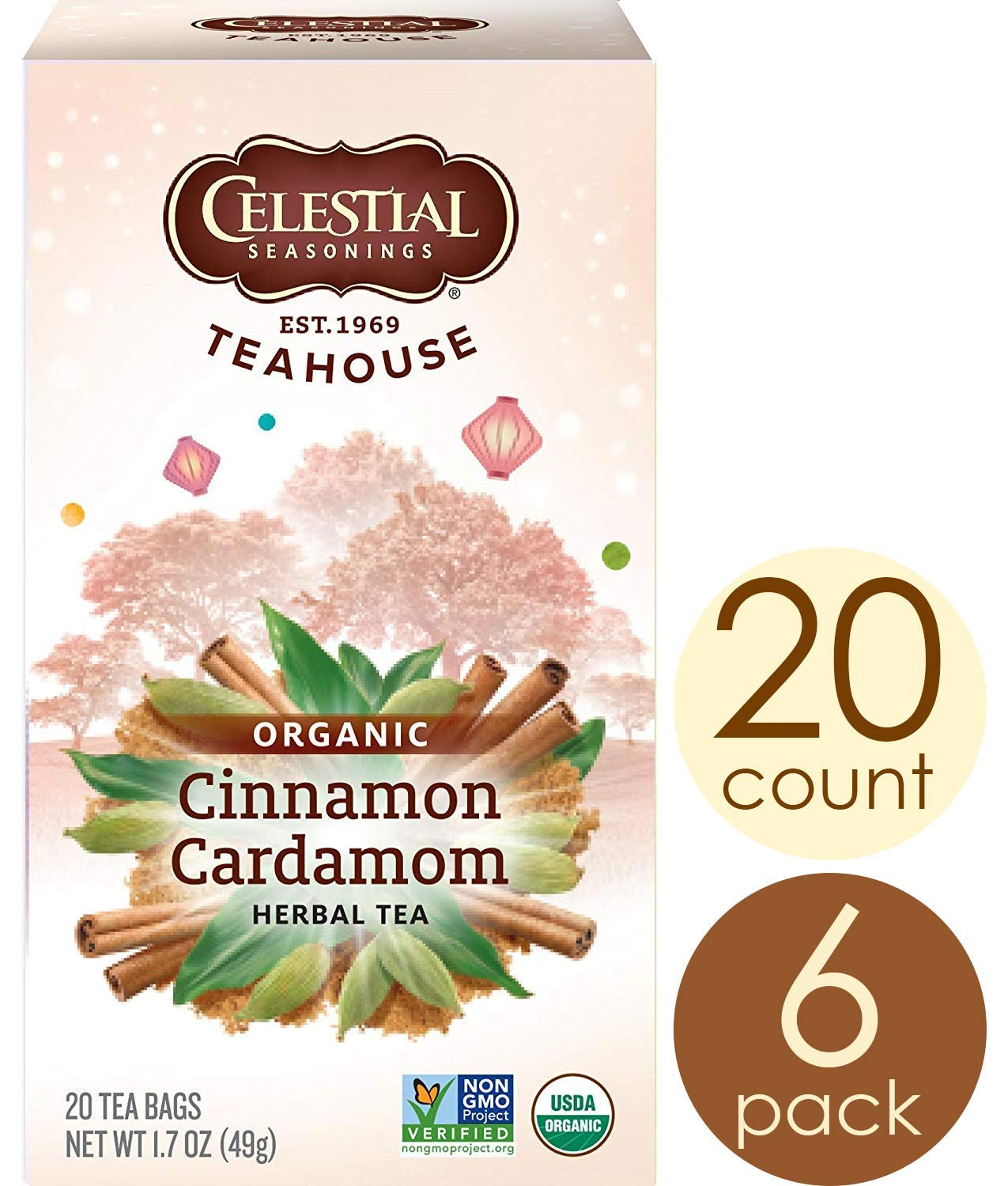 Celestial Seasonings Organics Herbal Tea, Cinnamon & Cardamom