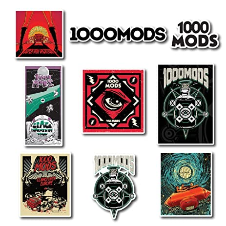 1000mods sticker set pack rock band decal for car window bumper laptop skateboard