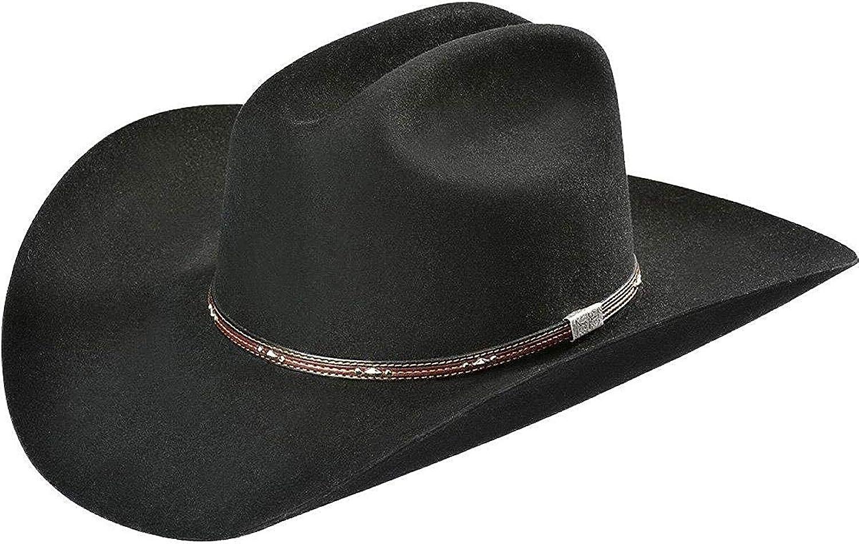 Resistol Mens Midnight 4X Felt Cowboy Hat Black 7 1//4