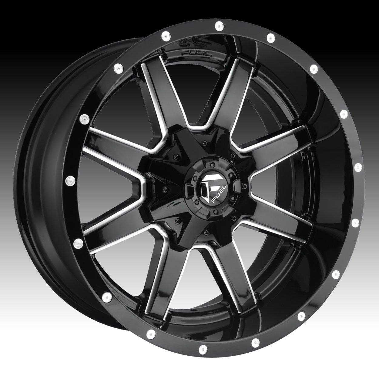 Fuel D610 Maverick 20x12 8x170 -44mm Gloss Black/Milled Wheel Rim