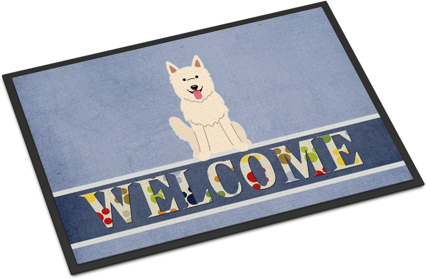 Caroline s Treasures BB5626MAT White German Shepherd Welcome Indoor or Outdoor Mat 18×27, 18H X 27W, Multicolor