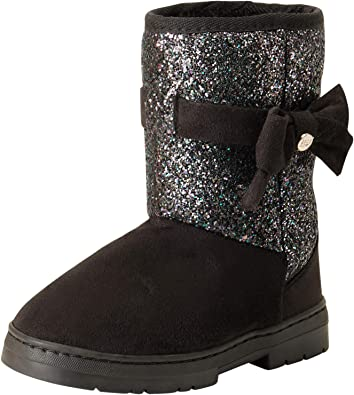 Baby Toddler Winter Faux Suede Rhinestone Boots Knitting Stitching Warm Shoes
