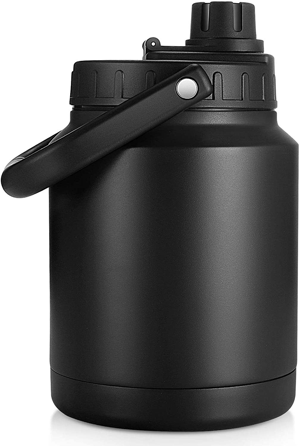 Sursip 64 Oz Water Bottle,Vacuum Insulated Stainless Steel Double Walled Water Jug,Thermos Water Bottle for Hot and Cold Drinks,Durable and Resistant Water Flask-Half Gallon(Black)