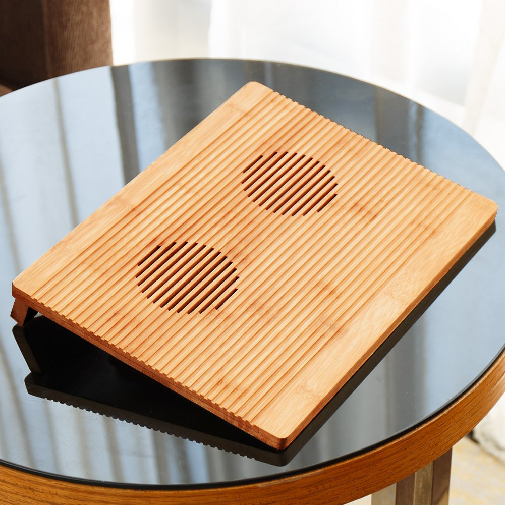 Laptop Cooling Pad NNEWVANTE Non-Slip Laptop Cooler 2 Fans for MacBook Tablet Laptop iPad Portable Healthy Tray 12.6''