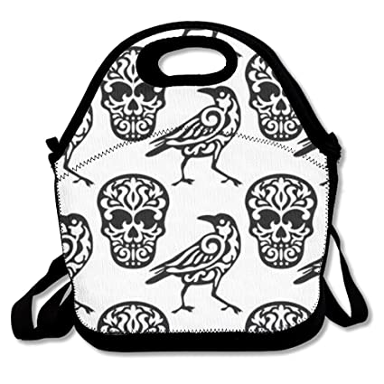 amazon skull and bird hot fashion 2017 newest lunch bag box Bird Seed Bag skull and bird hot fashion 2017 newest lunch bag box travel outdoor picnic lunchboxes lunch tote