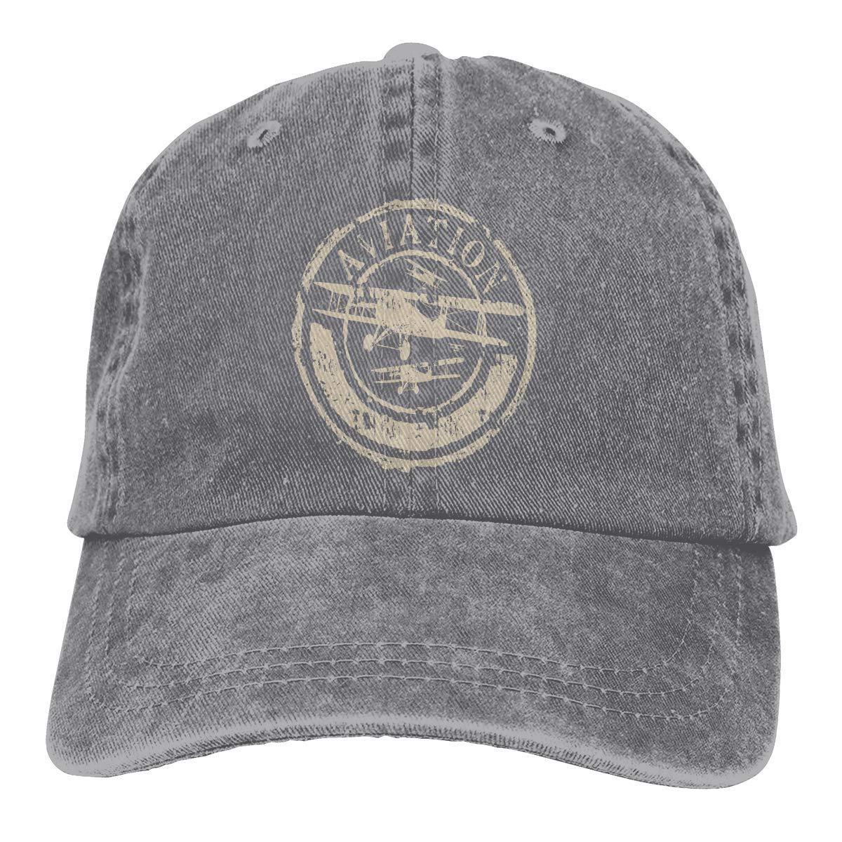 Xdevrbk Aviación Avión Unisex Washed Fashion Cowboy Hat Denim ...