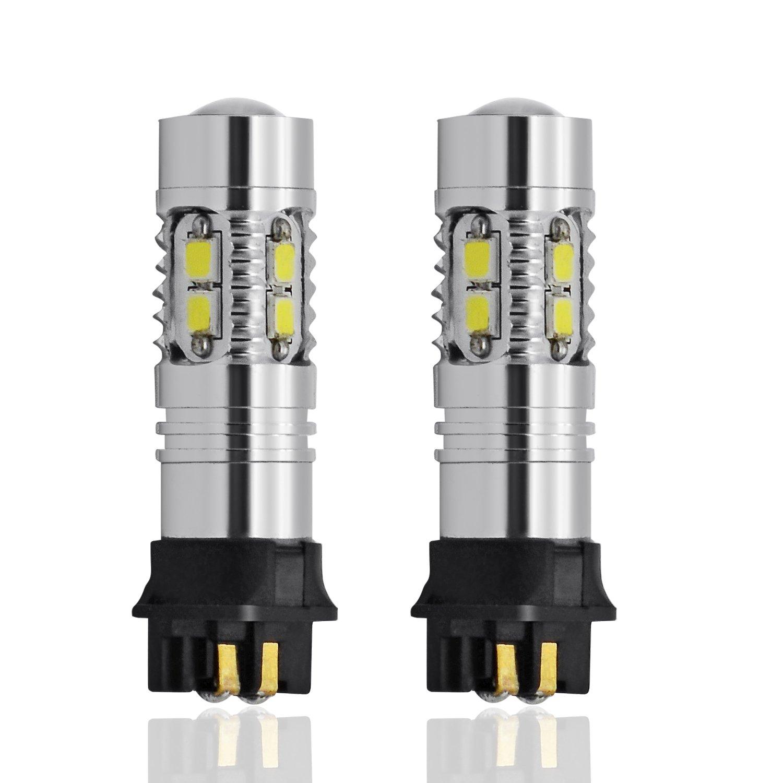 Dengzhu DB0697 Lampadine a LED Xenon 3 Luci con Fari per Marcia Diurna