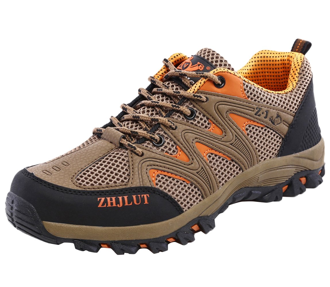 SK Studio Women's Running Breathable Hiking Shoes B06ZXXNW3P US M 9.5|Brown(men)