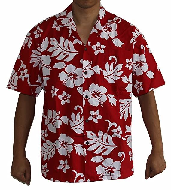8e447f50 Image Unavailable. Image not available for. Colour: Alohawears Clothing  Company Made in Hawaii! Men's Hibiscus Flower Classic Hawaiian Shirt ...