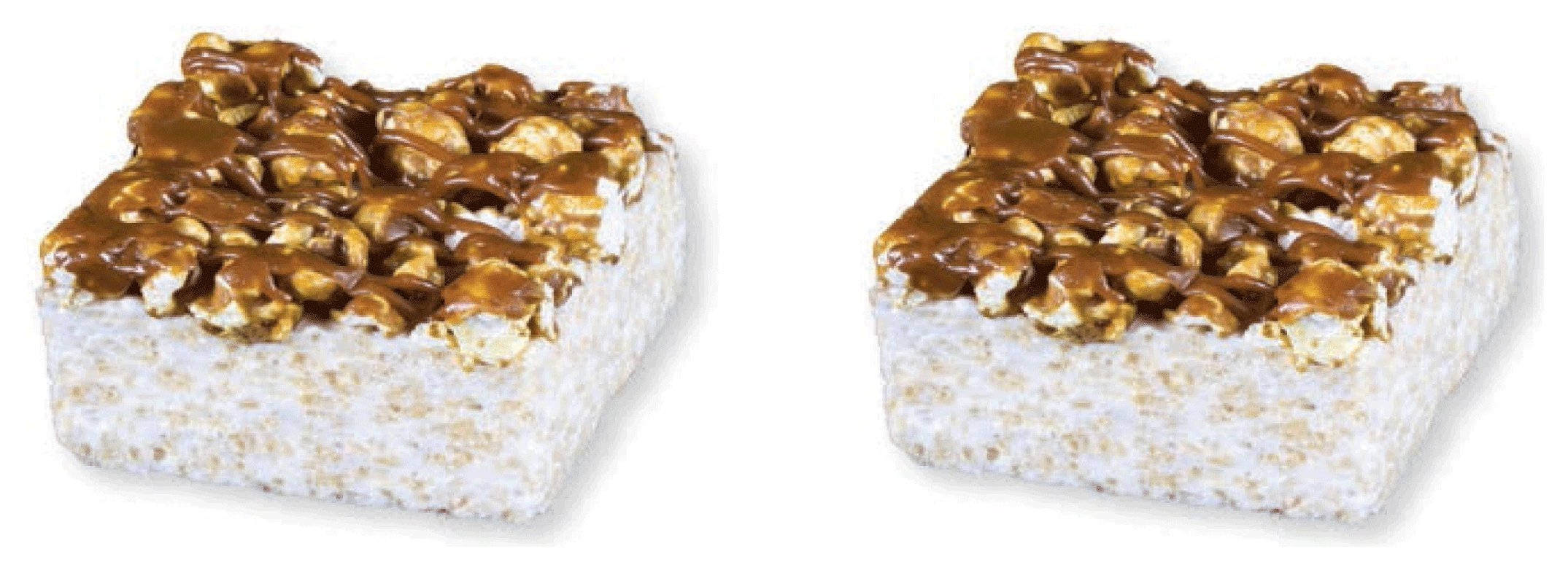 The Crispery Marshmallow Cake, Popcorn Crunch, 2 PACK 6 Ounce Each by The Crispery