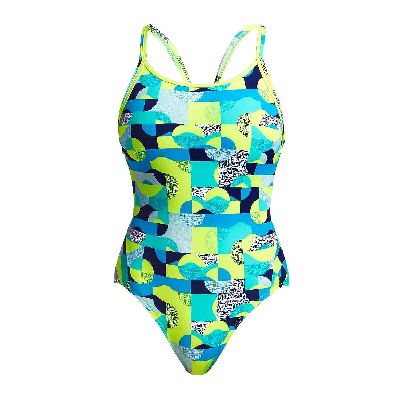 Funkita Damen Badeanzug Schwimmanzug Diamond Back Sand Storm FS11L02330