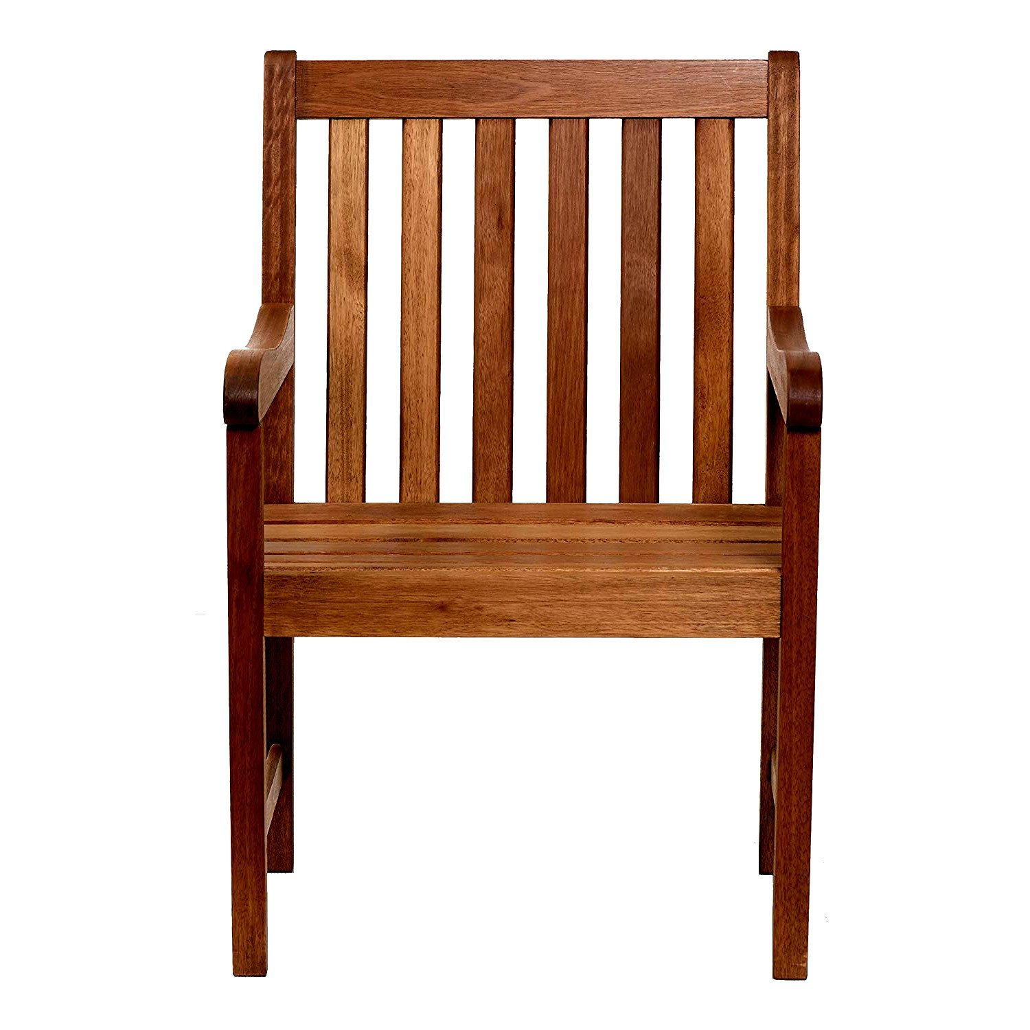 EFD Wooden Porch Chair in Natural Finish Seats Back Patio Lawn ...