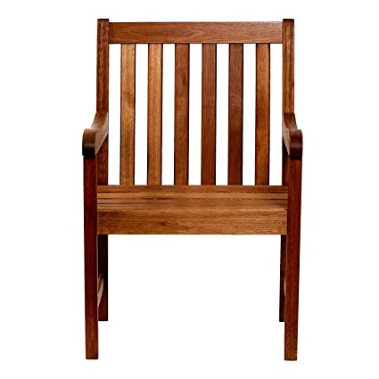 Amazon.com : EFD Wooden Porch Chair in Natural Finish Seats Back ...