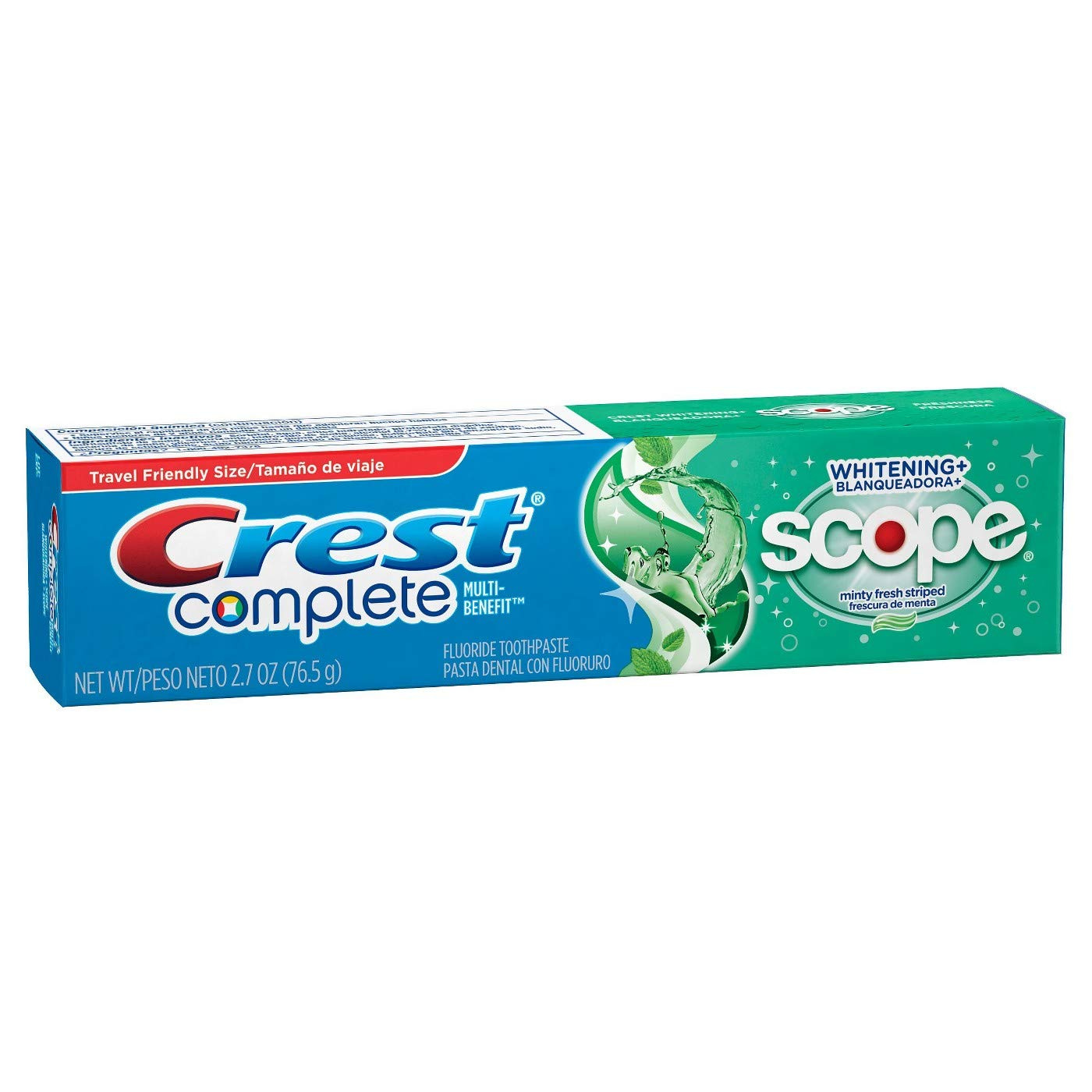 Amazon.com : Crest Whitening Plus Scope Toothpaste Minty Fresh Striped 2.70 oz (Pack of 6) : Beauty