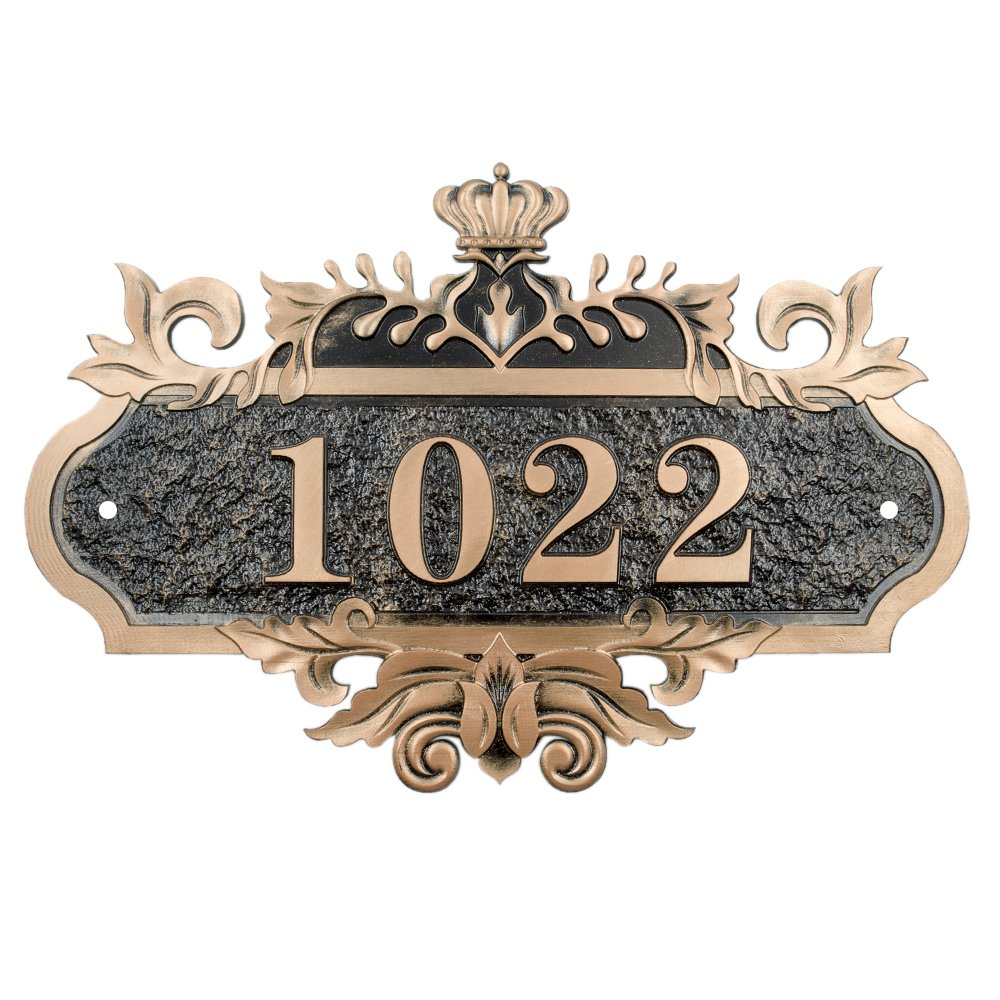 Aspire Customized Home Address Sign, House Hotel Office Number Sign, Personalized Address Plaque Sign, 7.9'' L x 11.8'' W