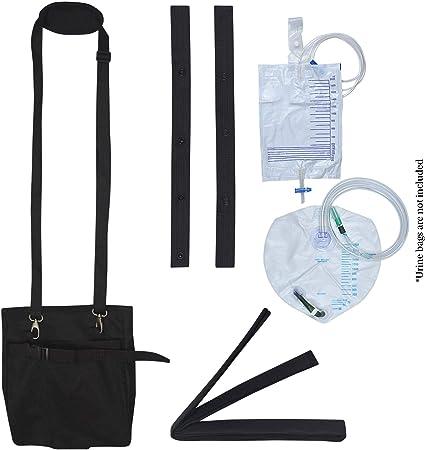 Catheter leg bag and tube covers.