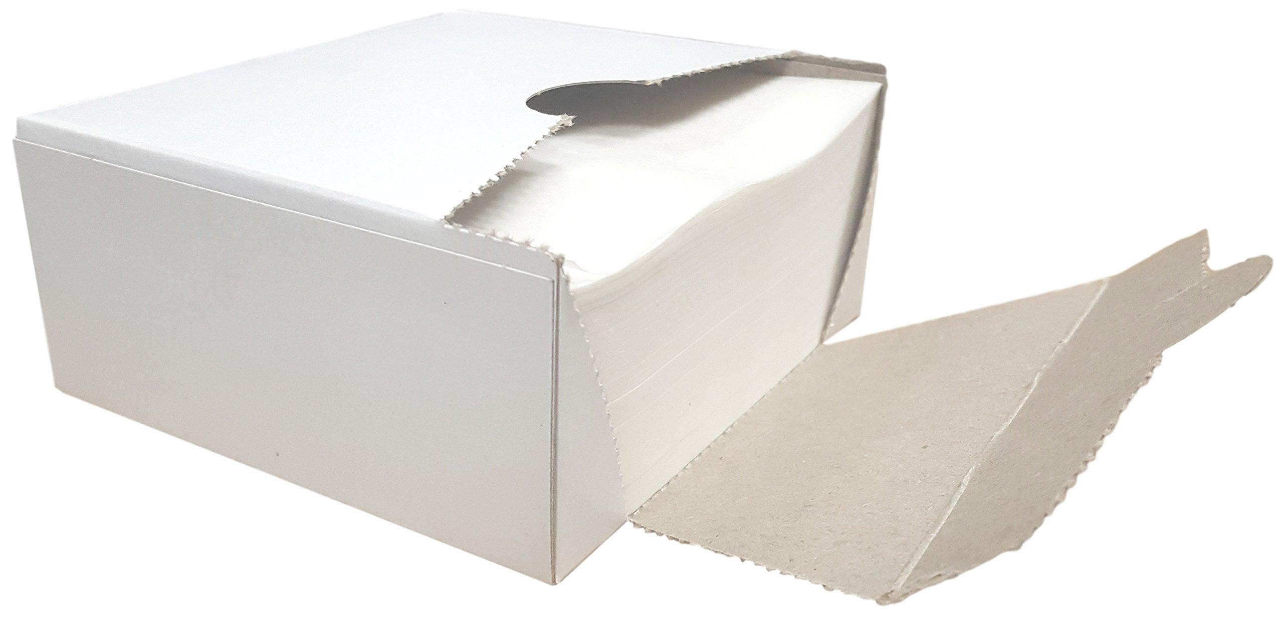 RJ Square Wax Paper Sheets - Hamburger Patty Paper Squares (1,000 Sheets) by RJ