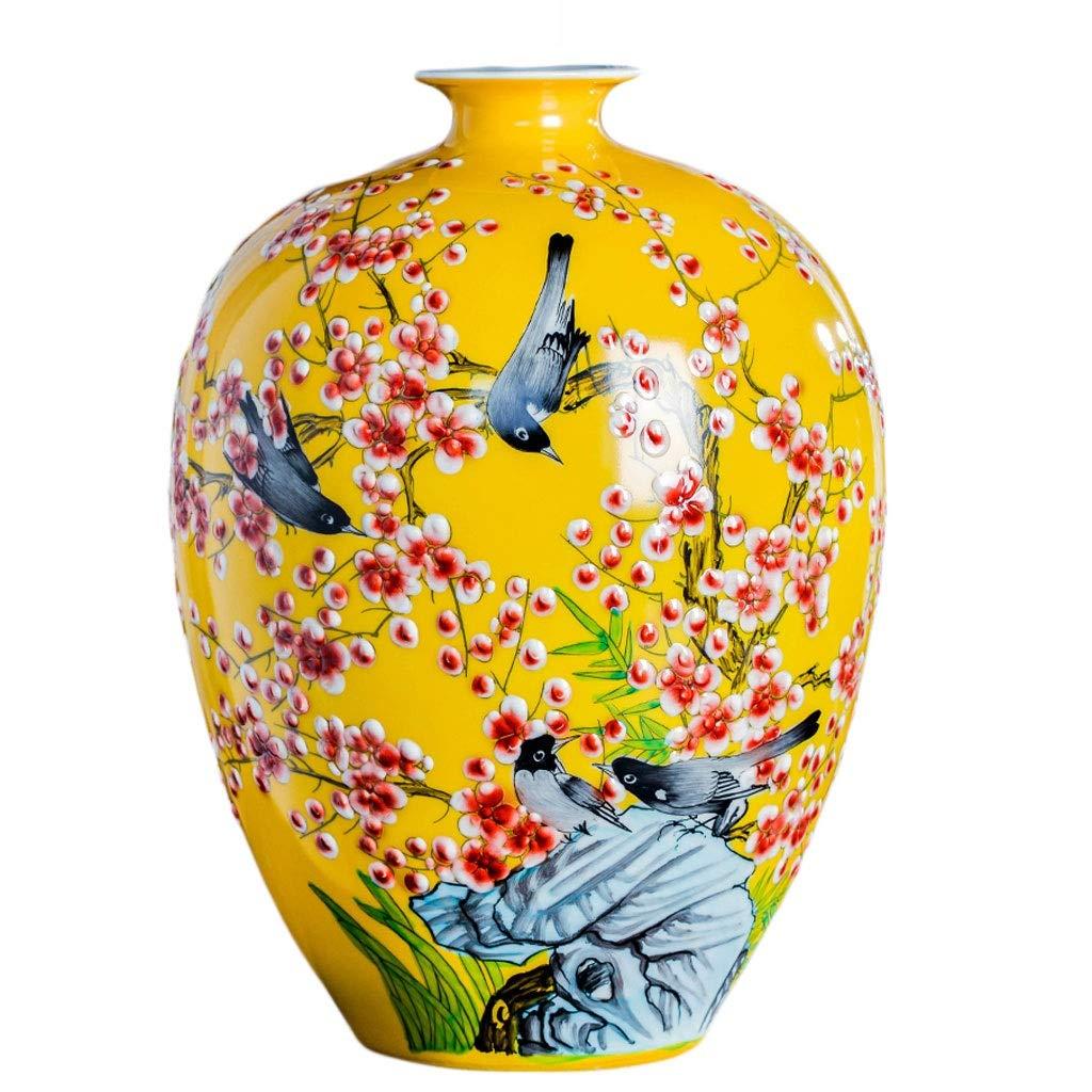 MAHONGQING 花瓶磁器フラワーアレンジメント現代中国風ホームリビングルームポーチドライフラワーテレビキャビネット装飾飾り B07RND19CB
