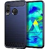 REALIKE Samsung M40 Back Cover, Carbon Fiber Full Shockproof Back Case for Samsung M40 (Carbon Blue) (Carbon Blue)