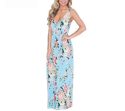 Summer Women Boho Dress Multi Floral Pattern Maxi Dress Strap Sex Club S Female Vestidos Verano