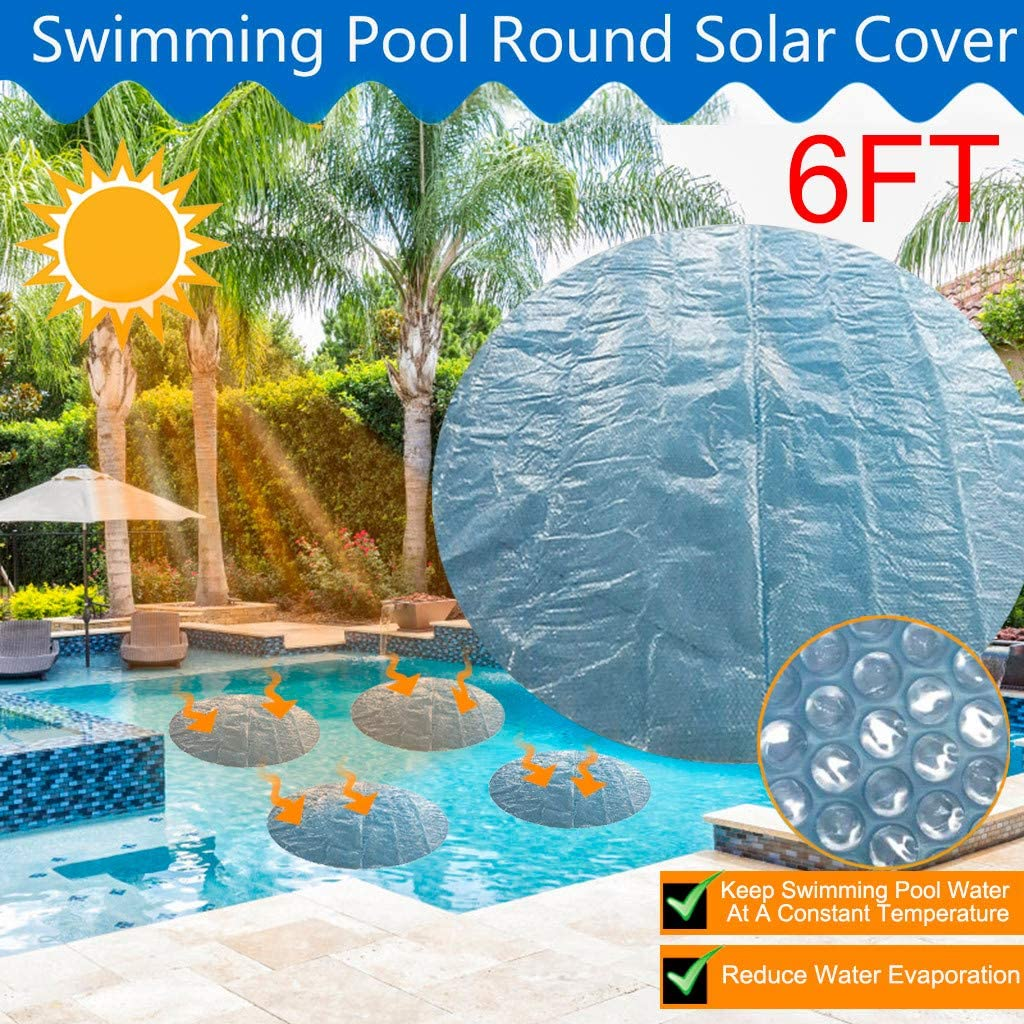 4ft Sinerixc Round Pool Cover Water Resistant PE Frame Pool Cover 4ft//5ft//6ft Diameter Swimming Pool Cover Waterproof Rainproof Dust-Proof Tarpaulin for Round Paddling Pool Inflatable Pool